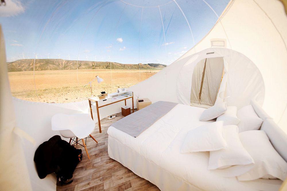 bubble room europa bubble room spagnaHotel Aire de Bardenas, Spagna Desert Bubble Room
