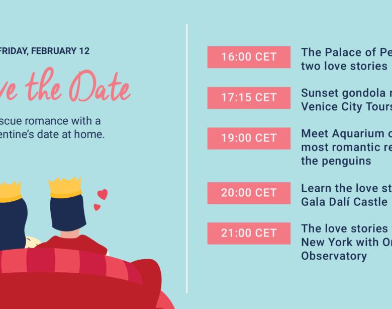 """""""SAVE THE DATE!"""" Salviamo il romanticismo a San Valentino 2021 con Tiqets"""